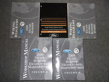 2009 Ford Escape MERCURY Mariner & Hybrid Service Shop Repair Manual SET FACTORY