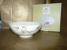 portmeirion red robin footed serving bowl / dish