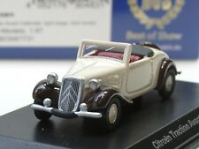 BOS Citroen Traction Avant Cabrio, 1936, beige/dunkelbraun - 87731 - 1:87
