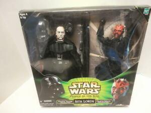 "Star Wars 12"" Action Collection Sith Lords Darth Maul Darth Vader Power of Jedi"