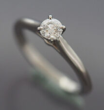 CARTIER PLATINUM 950 SOLITAIRE 1895 0.25 CT DIAMOND RING WITH GIA REPORT SIZE 49
