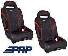 PRP Suspension Front Seat - Black / Red Pair 14-17 Polaris RZR XP 1000 & Turbo