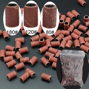 50/100Pcs Nail Drill Bits Art Sanding Bands Gel File Polish Electric Remover Set