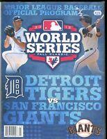 2012 World Series Baseball Program Tigers Giants EX 010617jhe