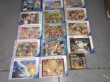 LOT OF 15 RAVENSBURGER 1000 PIECE JIGSAW PUZZLES Adult Assembled Once