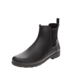 RRP €115 HUNTER Rubber Wellington Boots EU 39 UK 6 US 8 Elasticated Insets Logo
