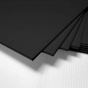 "(4 Pack) 4mm Black 24"" x 48""  Vertical Corrugated Plastic Coroplast Sheets Sign^"