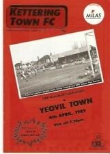 Kettering Yeovil Town 04/04/89 old football programme