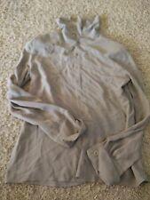 GREAT Women's Shirt Size 44 GIORGIO ARMANI 100% Silk Gray Italy STUNNING Button