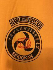 Ryukoku Karate T-shirt Seidokan From Okinawa Ryukyus Islands Japan XL.