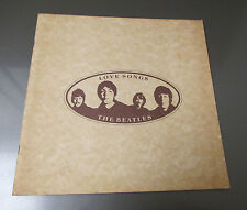 1977 THE BEATLES Love Songs LP Lyrics Insert ONLY FN