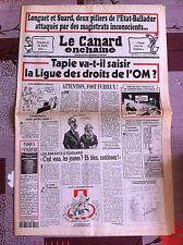Le Canard Enchainé 27/4/1994; Tapie va t'il saisir la ligue des droits de l'OM ?