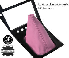 PINK TOP GRAIN REAL LEATHER GEAR GAITER FITS S13 240SX 200SX 180SX 1988-1993