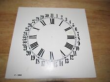 "Paper Clock Dial  - Calendar with Roman Numerals - 6 1/2"" x 6 5/8"" - Semi-Gloss"