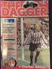 Dagenham & Redbridge Vs Charlton Athletic Programme. FA Cup 3rd R Rply, 17.01.01