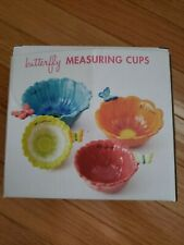 Butterfly & Flower Measuring Cups - Usable & Decorative! Never used!