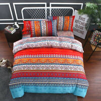Luxury Bohemian Ethnic Style Bedding Set Cotton Duvet Cover Pillowcase 4 piece