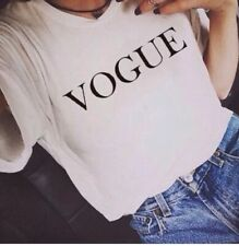 VOGUE tee cool printed Zara casual t-shirt personalised funky one off insta