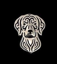 Hungarian Vizsla Dog Brooch or Pin -Fashion Jewellery Silver Plated, Stud Back