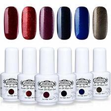 Perfect Summer Gel Nail Polish Set - 6 Glitter Red Colors Gel Nail Varnish So...