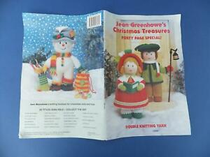 Greenhowe Christmas Toy Double Knitting Pattern Book Wool Doll Holly Snowman Elf