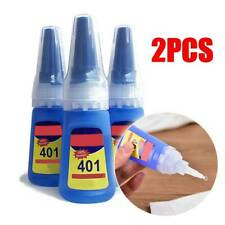 2PCS New 401 Instant Adhesive 20g Bottle Stronger Super glue Multi-Purpose