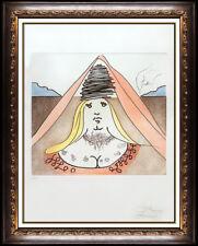Salvador Dali Lady Dulcinea Color Etching Hand Signed Don Quixote Surreal Art