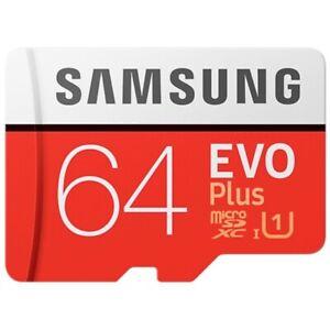 Genuine Samsung EVO Plus Micro SD Card 64GB Class 10 SDXC Memory Card 100MB/s TF