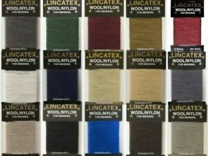 Lincatex Thread for Darning & Mending 30% Wool 70% Nylon 10 Metres Many Colours
