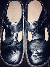 Woman's INGARO Happy Gray shiny patent slip on Mary Jane clogs/shoes size 7