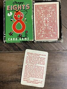Vintage 1951 CRAZY EIGHTS Whitman Peter Pan Mini Card Game Complete