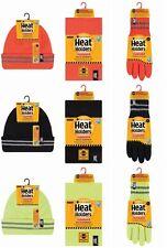 Heat Holders Reflective Stripe Winter Warm Thermal Hat, Neck Warmer & Gloves