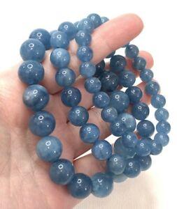 1PCS Natural Aquamarine AAAA Grade Crystal Gemstone Fashion Bead Bracelet #C0226