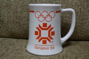 Vintage 1982 Sarajevo '84 XIV Winter Olympic Games Coffee Mug Wallace Berrie