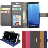 Double Flip book Leather Wallet Case Book Metal Lock For iPhone / Galaxy / LG