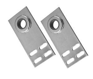 "Garage Door End Bearing Plate-Flat with 1"" Bearing, 6-5/8~PAIR"
