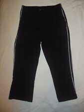New York & Company JEANS Women's Athletic Capri Pants sz Medium Black Striped