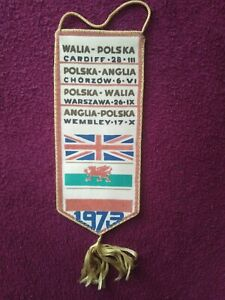 Old football Pennant :Qualifications FIFA World Cup-Polska, England, Wales 1973