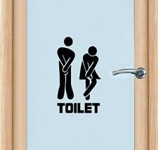 Funny Toilet Entrance Sign Decal Vinyl Sticker For Shop Office Home Cafe Hotel t