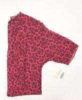 Lularoe Shirley Kimono Small NWT Pink Black