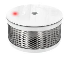 Mini Rauchmelder Brandmelder 10 Jahres Batterie Cordes design weiß hochglanz