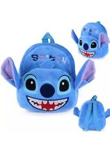"""9"""" Plush LILO And Stich Blue Backpack School Toy Travel Diaper Doll Game Bag Pet"""