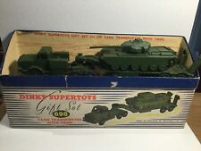 Dinky Supertoys Gift Set 698 Tank Transporter With Tank Within Its Original Box