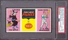 1966 Comic Book Foldees BABE RUTH PSA 6 New York Yankees Bambino w/ Wonder Woman