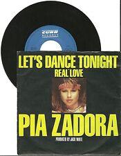 "Pia Zadora, Let's dance tonight, G/VG  7"" Single 0433"