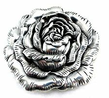 WESTERN ROSE COWGIRL FLORAL RODEO TROPHY BELT BUCKLE WOMEN'S VINTAGE NEW