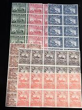 China PRC #6L57 - #6L61 Very Fine Mint lot of 6 sets in block of 10 $500 VAL COA