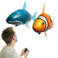 1pc Remote Control Flying Fish RC Plastic Inflatable Blimp Animal Balloon Toys