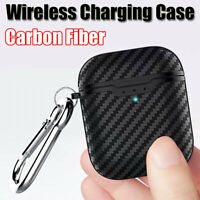 Carbon Fiber Soft Case For Apple AirPods 2nd Generation 2019 Wireless Charging