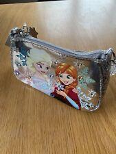 Disney Store Frozen Silver Princess Elsa and Anna Hand Bag